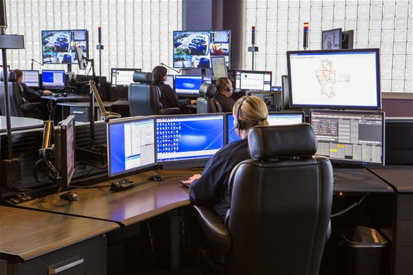 SBRPCA dispatching center with Avtec Scout Console and P25 CSSI
